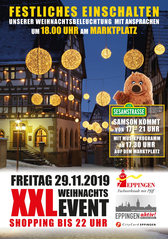 ▷ Festliches Einschalten der Weihnachtsbeleuchtung und XXL-Shopping - Eppingen.org